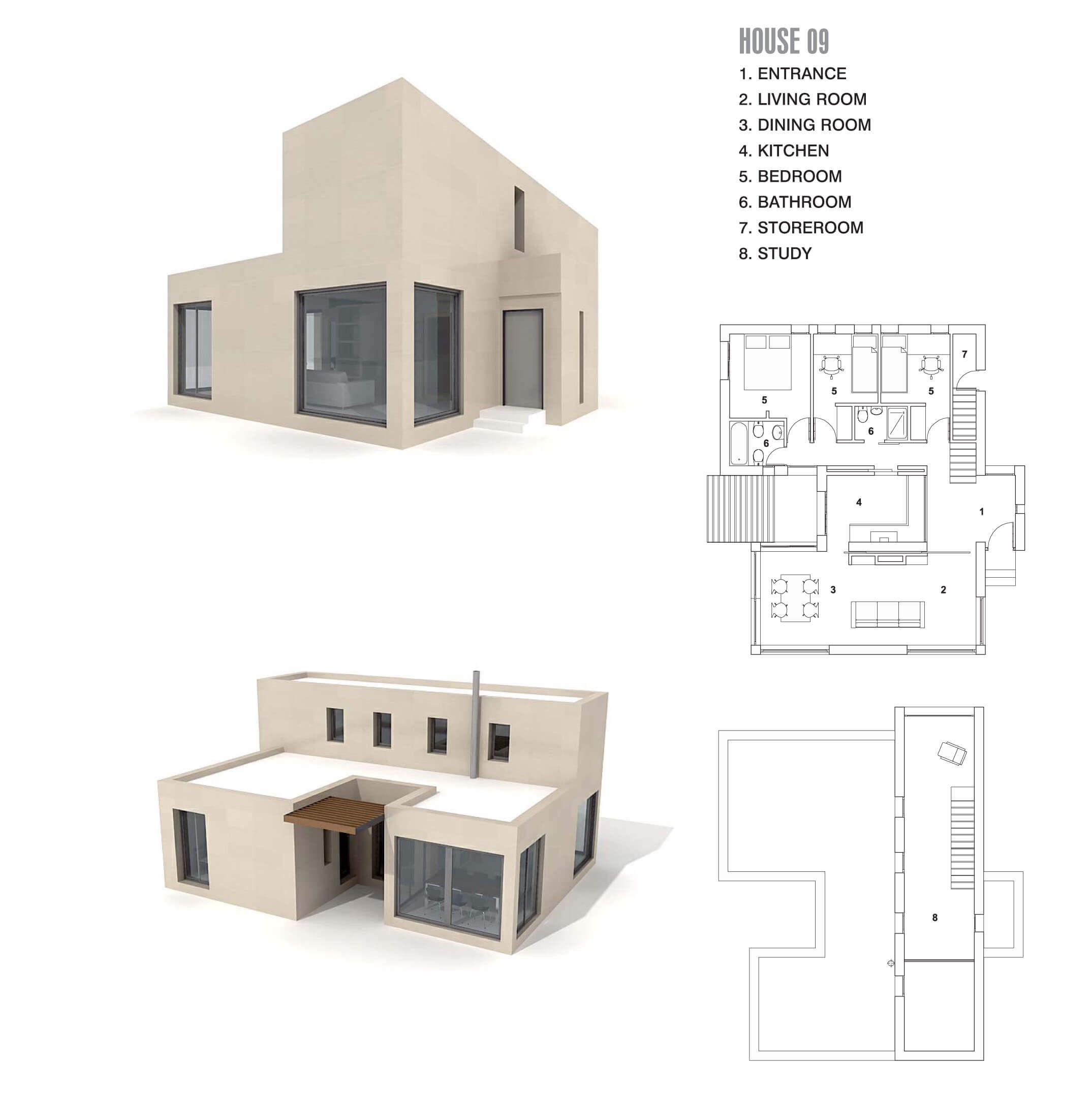 Căn biệt thự nhỏ với đường nét hiện đại, đơn giản