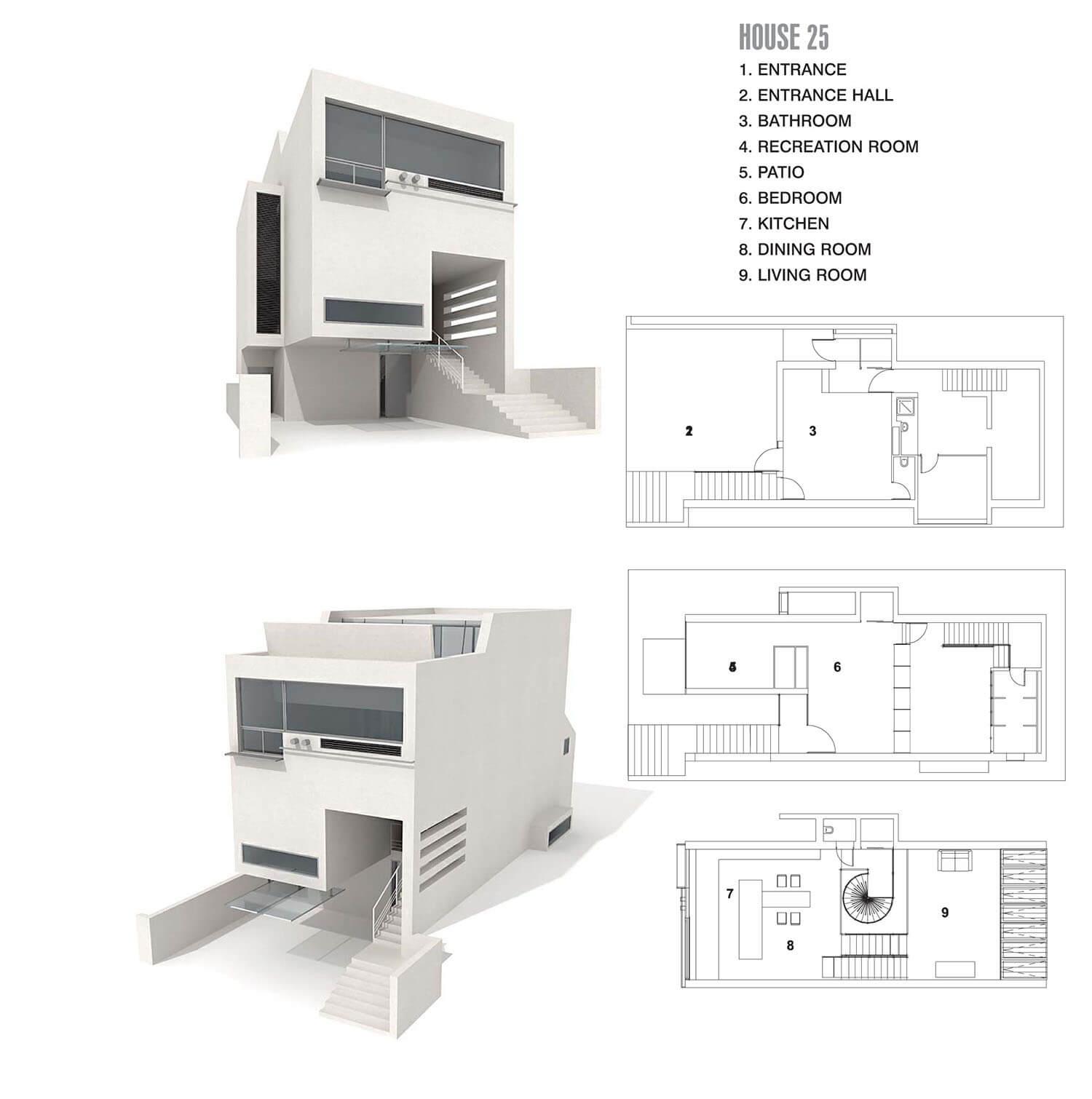 Ngôi nhà mặt phố với hình dáng biến hóa linh hoạt, như trò chơi xếp hình logo