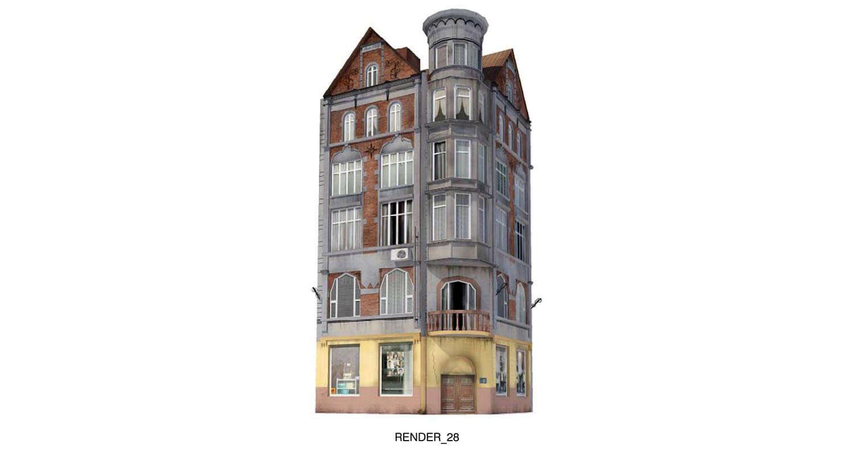 Ngôi nhà với đường nét kiến trúc khá sinh động, nhưng đã cũ theo thời gian