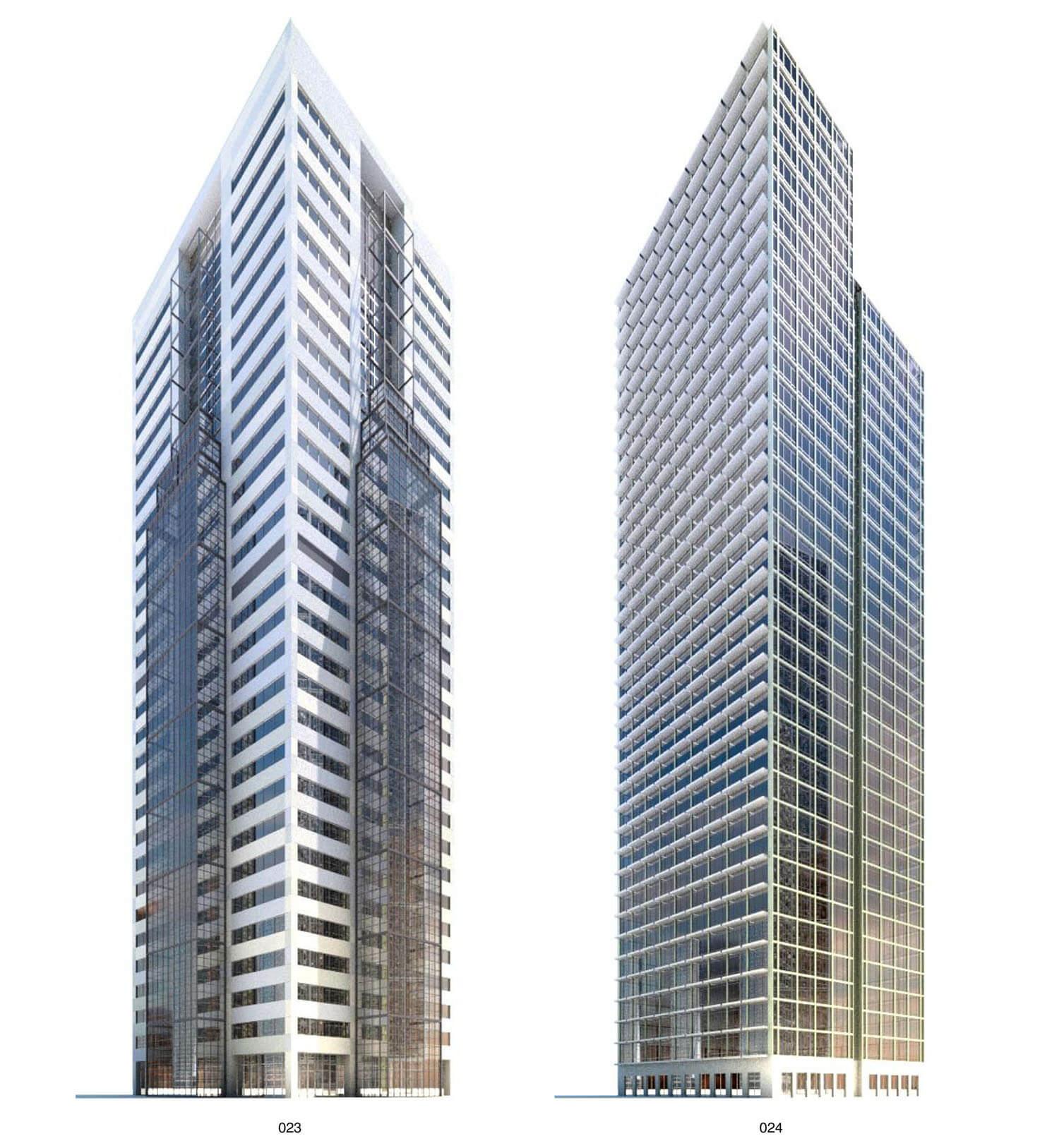 Building có các tấm chắn nắng rất giá trị với các nhà cao tầng
