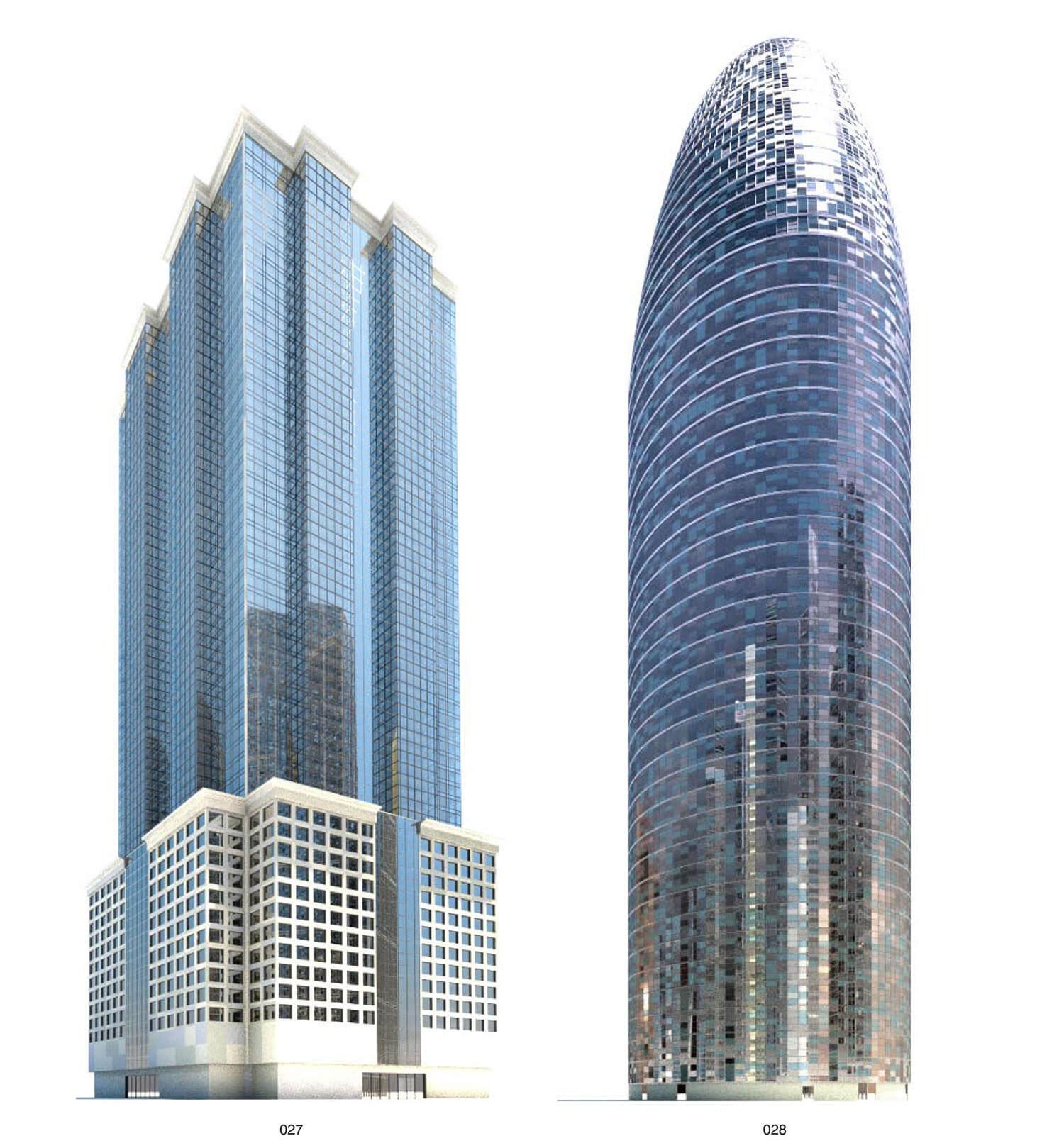 Mái kính nhọn như thỏi son - Nhà cao tầng với kiểu dáng rất đặc biệt
