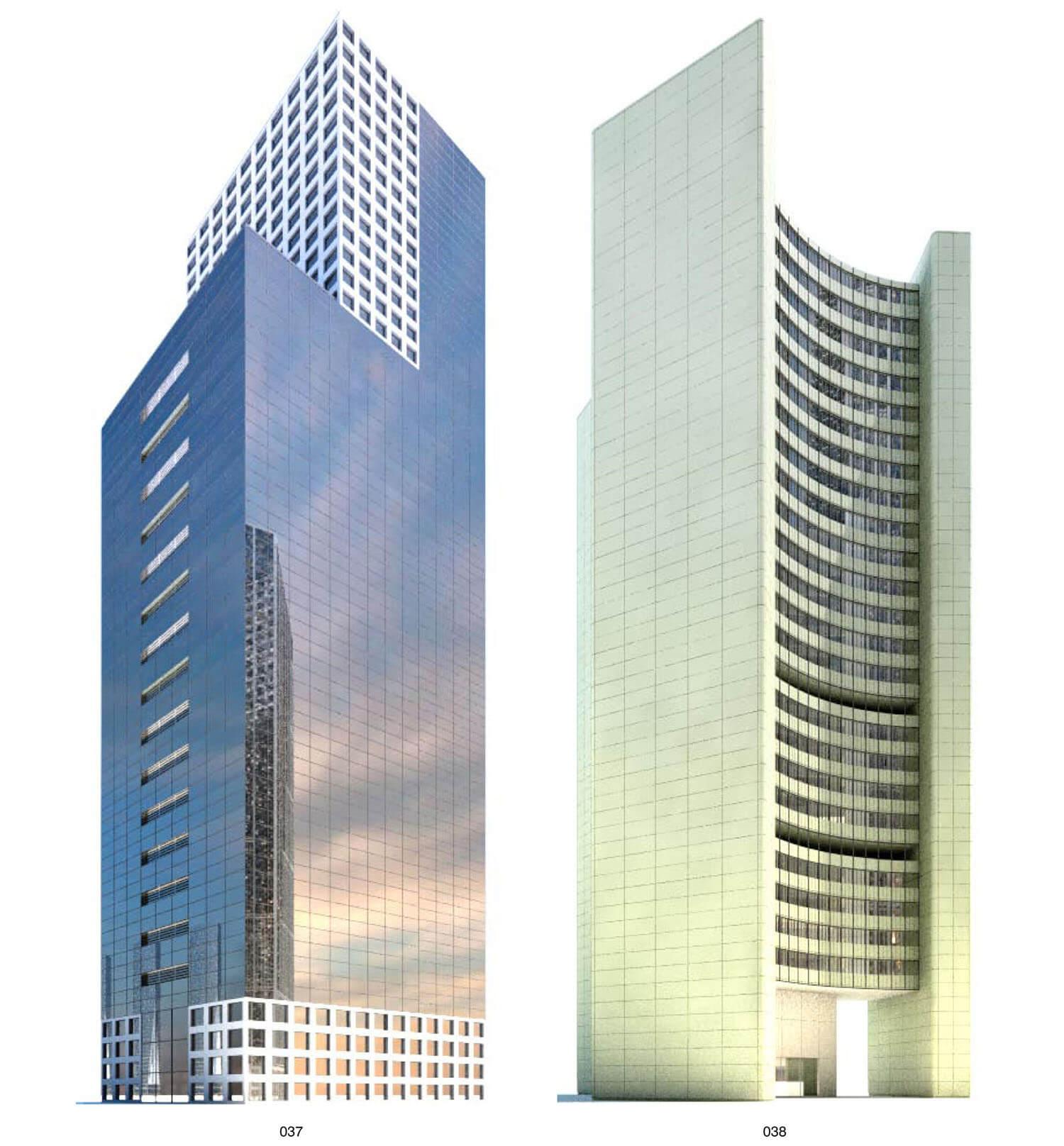 Sự đối lập của 2 kiến trúc: Kính và Bê tông