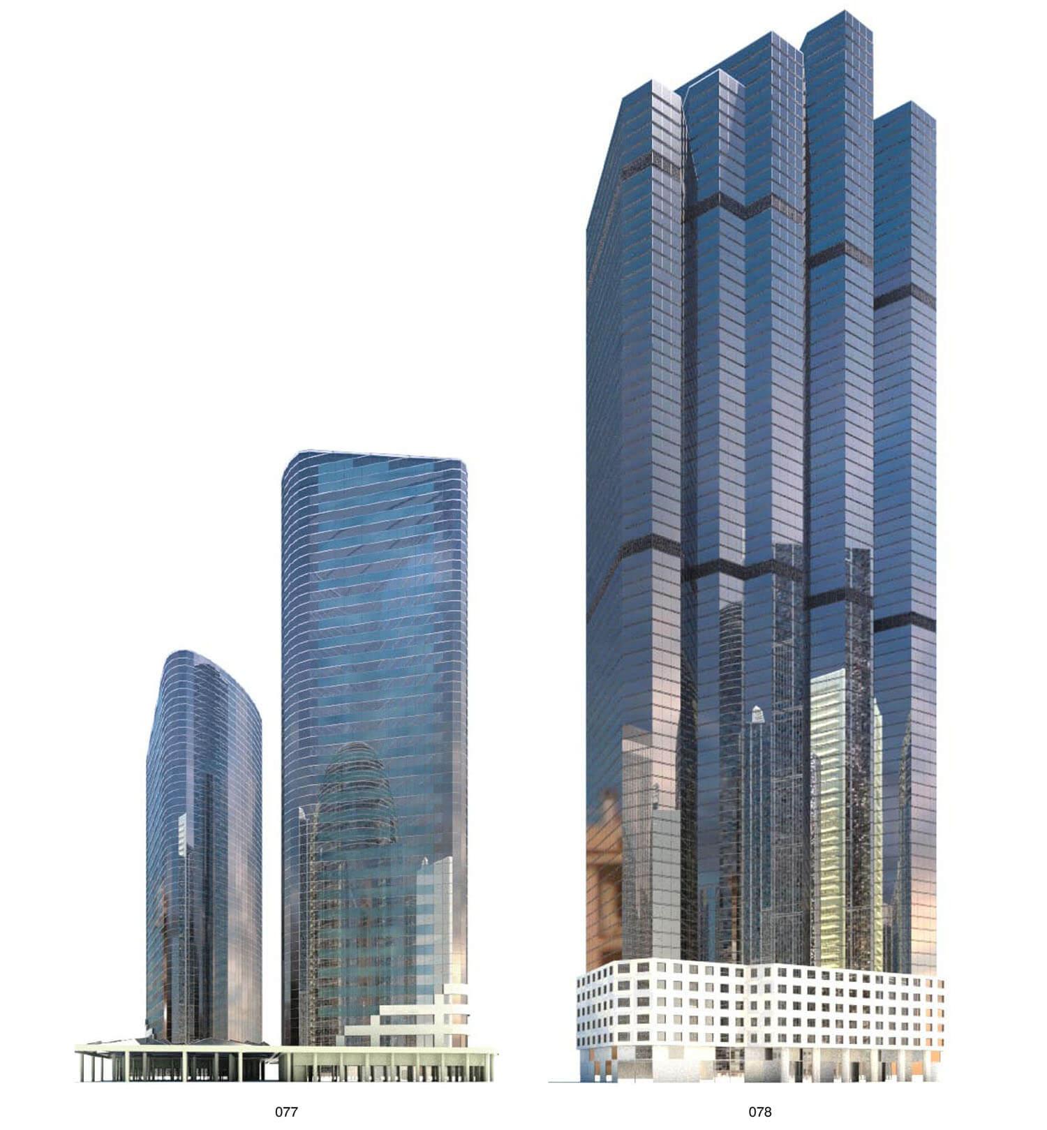 Các cao ốc có vỏ ngoài bằng kính là hình thức kiến trúc phổ biến đối với nhà cao tầng