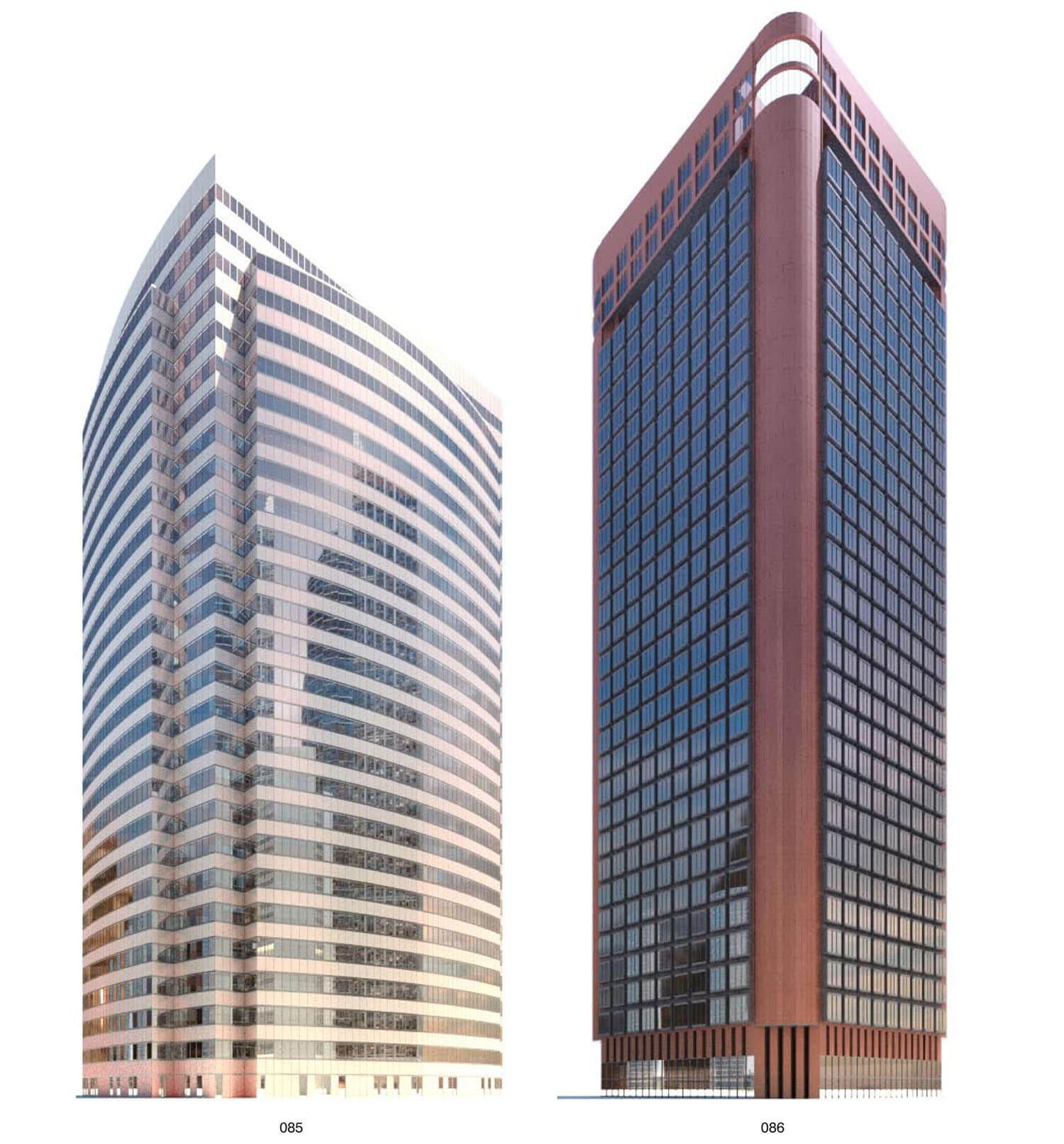 2 building kiểu vát góc