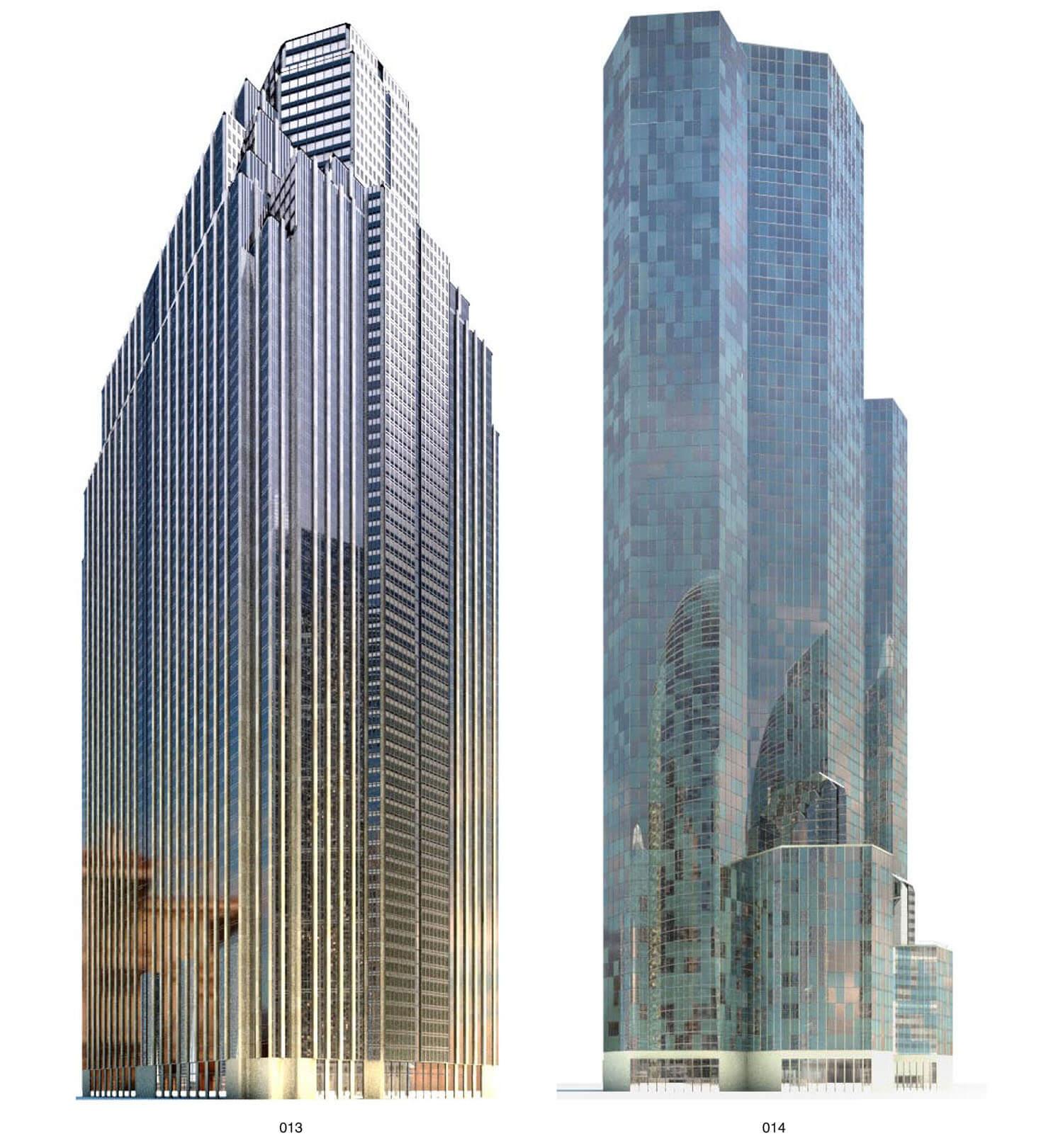 Phần nóc nhà cao tầng được thiết kế như nhiều nóc tòa nhà chụp vào nhau