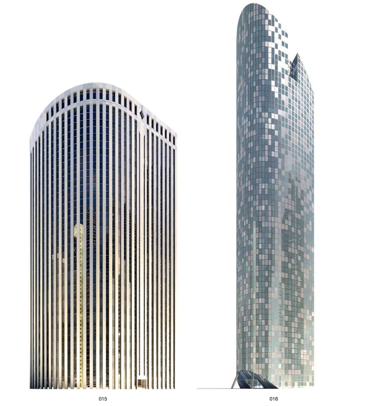 Nhà cao tầng với hình dáng cong hấp dẫn