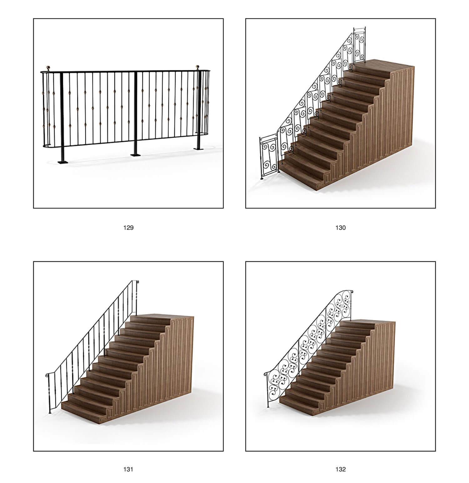 Và khi lan can sắt nghệ thuật được áp dụng lên cầu thang