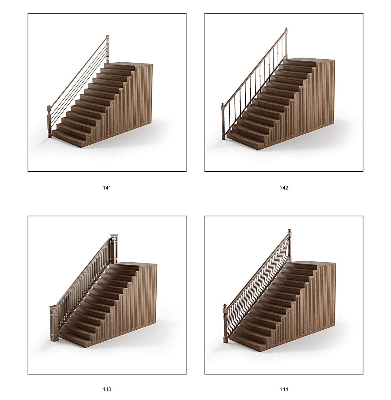 Lan can cầu thang sắt kết hợp gỗ