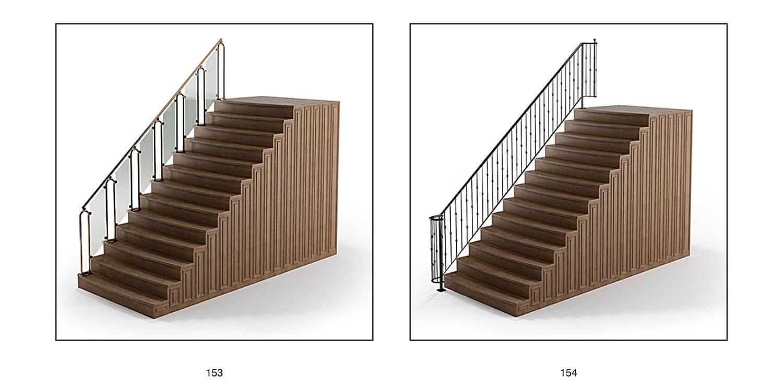 Cầu thang lan can bê tông, đá trắng