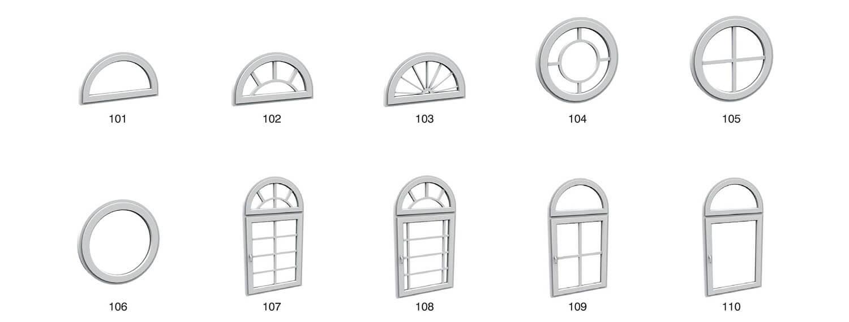 Cửa gỗ cửa nhựa hình tròn, hình vòm