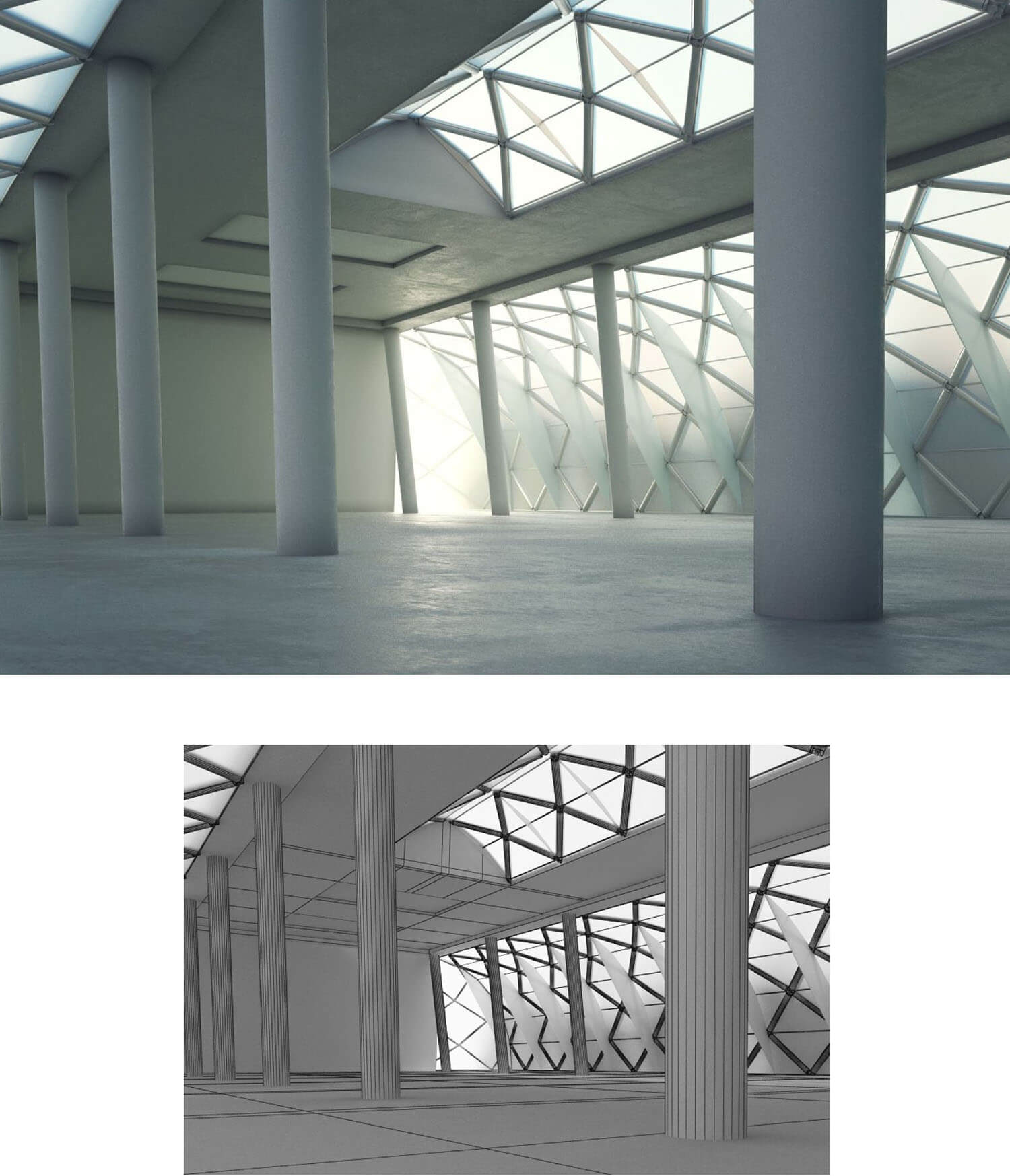 Không gian sảnh đẹp với ánh sáng mở