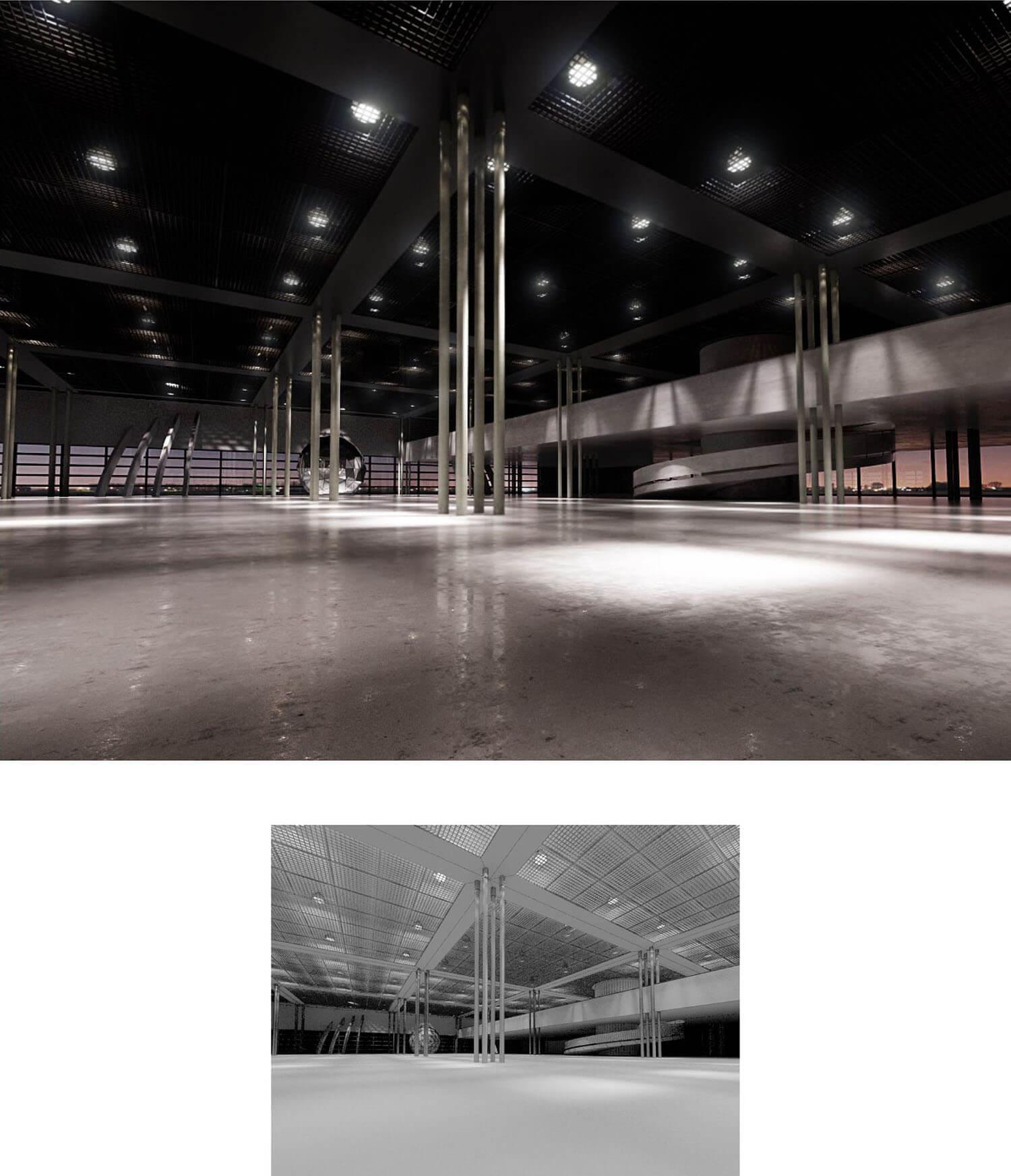 Không gian trưng bày đẹp đang đợi sự sắp đặt của các kiến trúc sư
