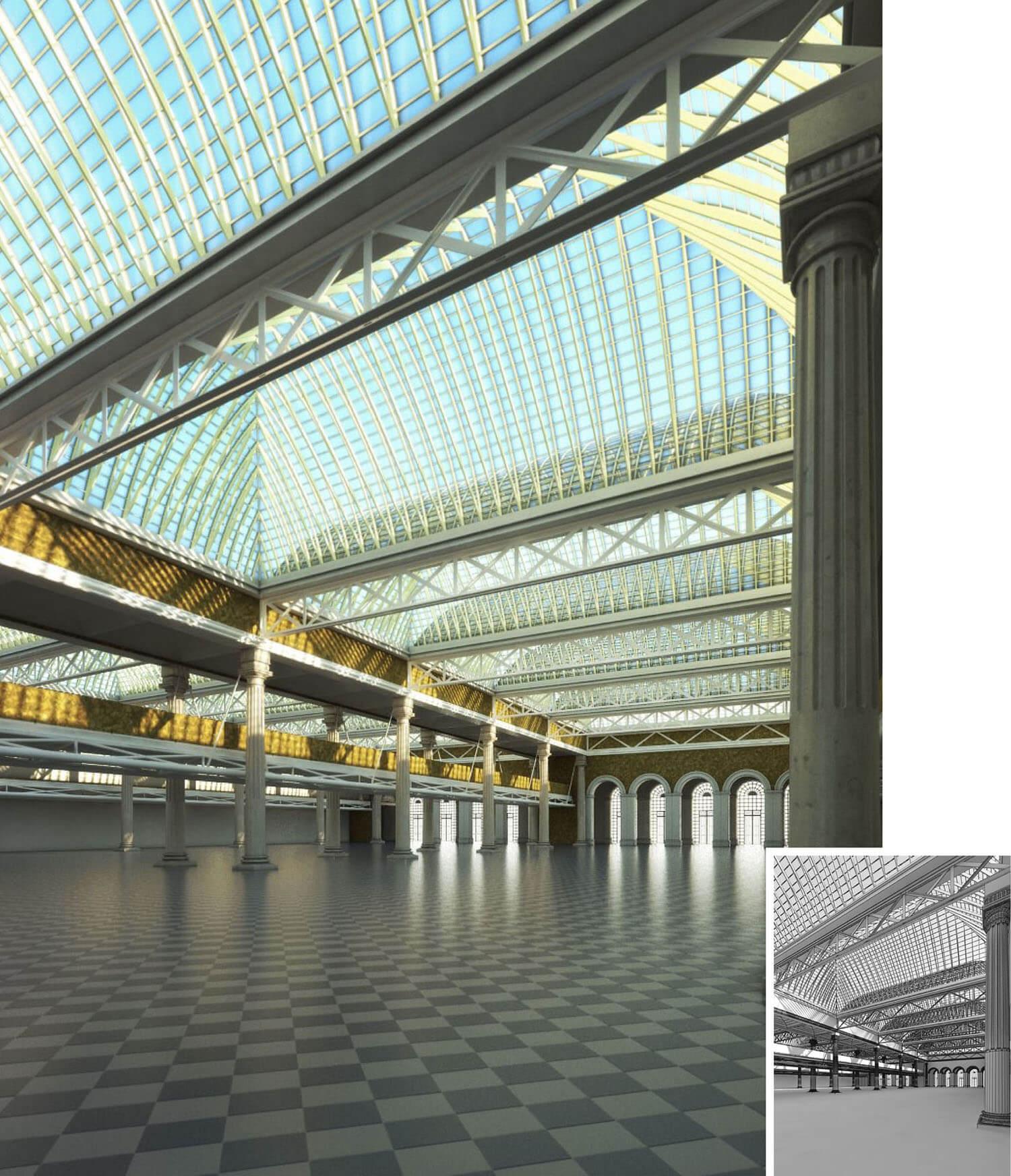 Thiết kế không gian đẹp cho đại sảnh sân bay