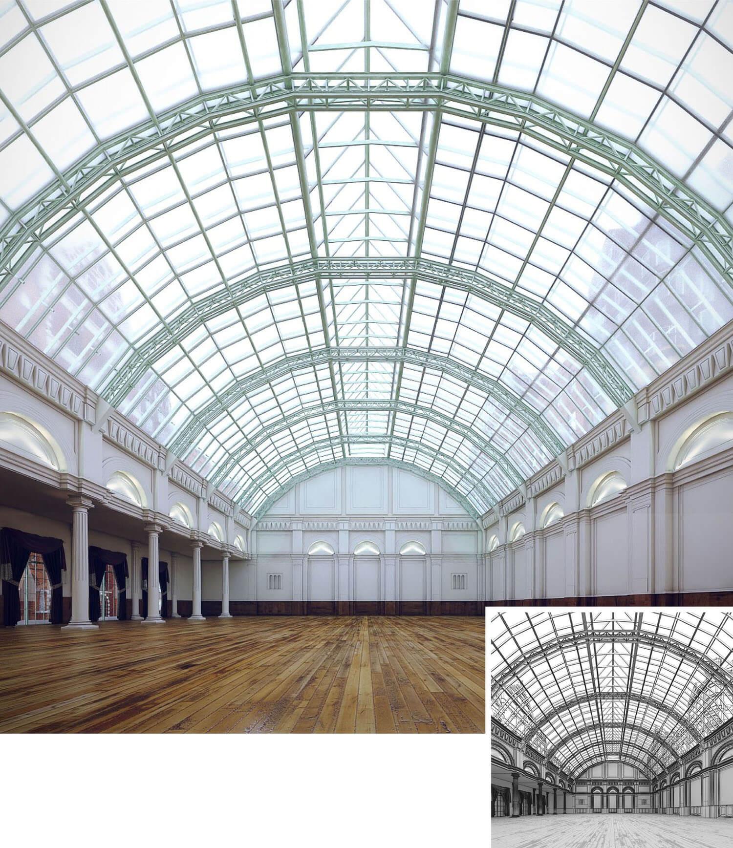 Không gian trưng bày tranh đẹp kiến trúc Italy