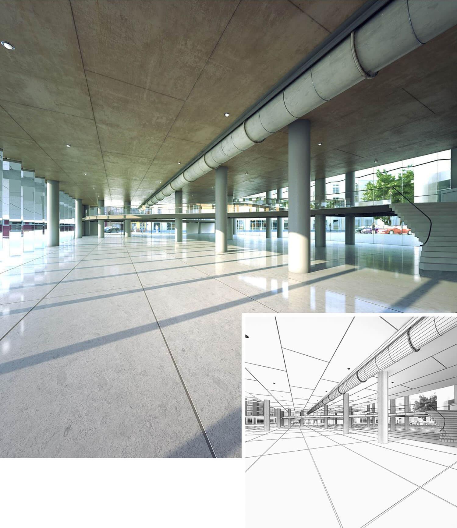 Thiết kế không gian sảnh nhà ga sân bay
