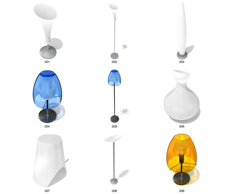 Đèn bàn đèn ngủ kiểu trụ tròn