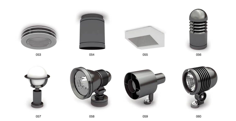 Các đèn ốp có kết cấu chìm tường