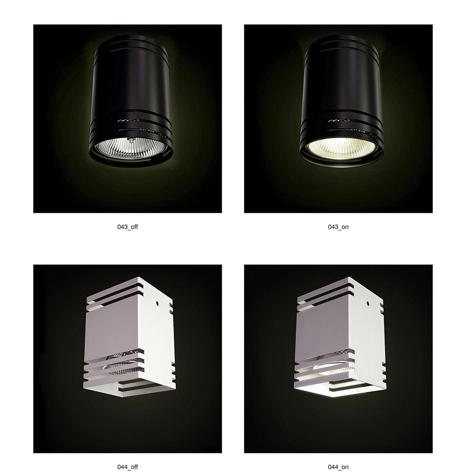 Đèn ốp tường kim loại với các nan sắt, tạo hiệu ứng đẹp khi chiếu sáng