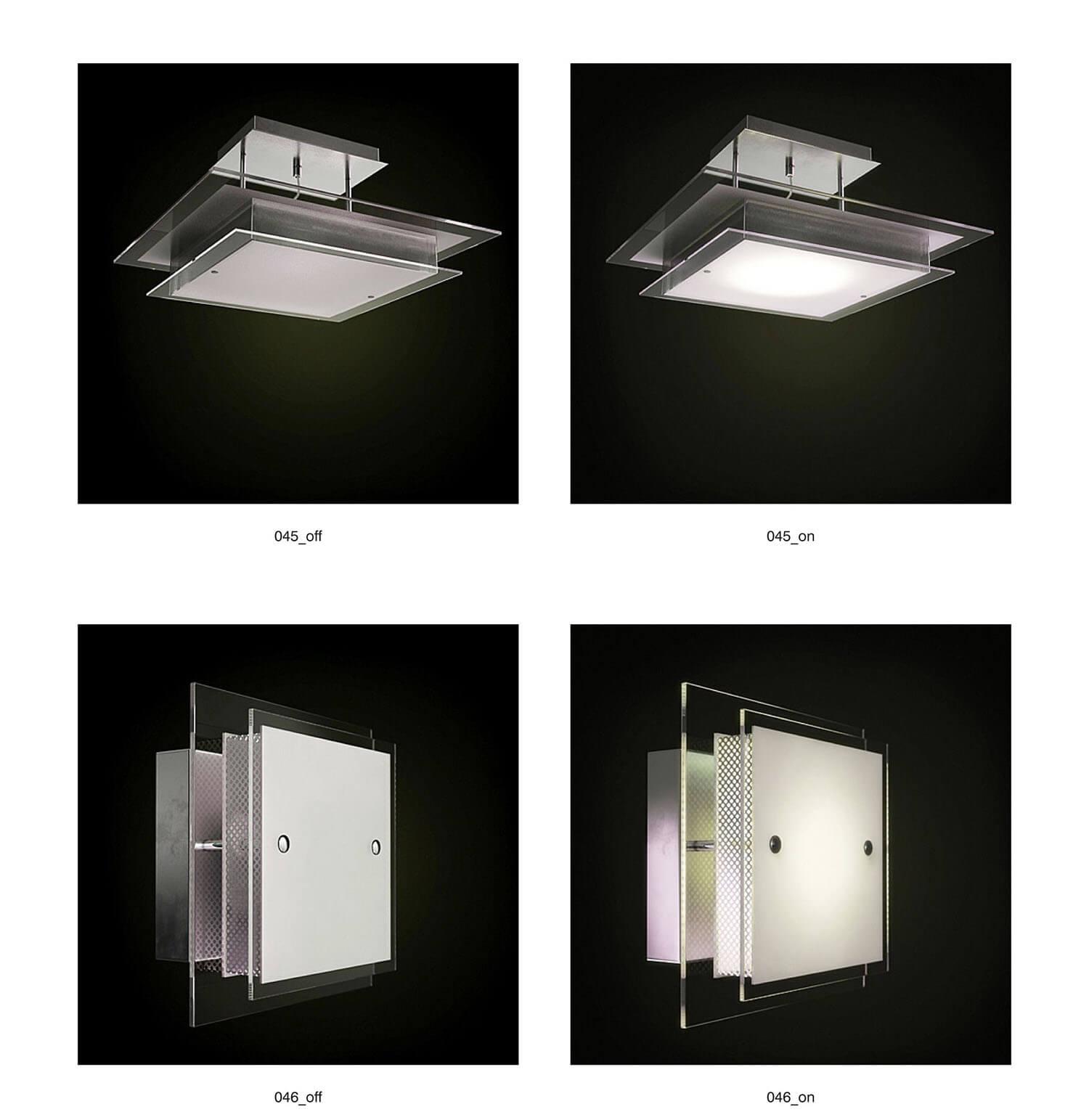 Kiểu đèn ốp tường và trần ốp hành lang, wc đơn điệu hiện nay