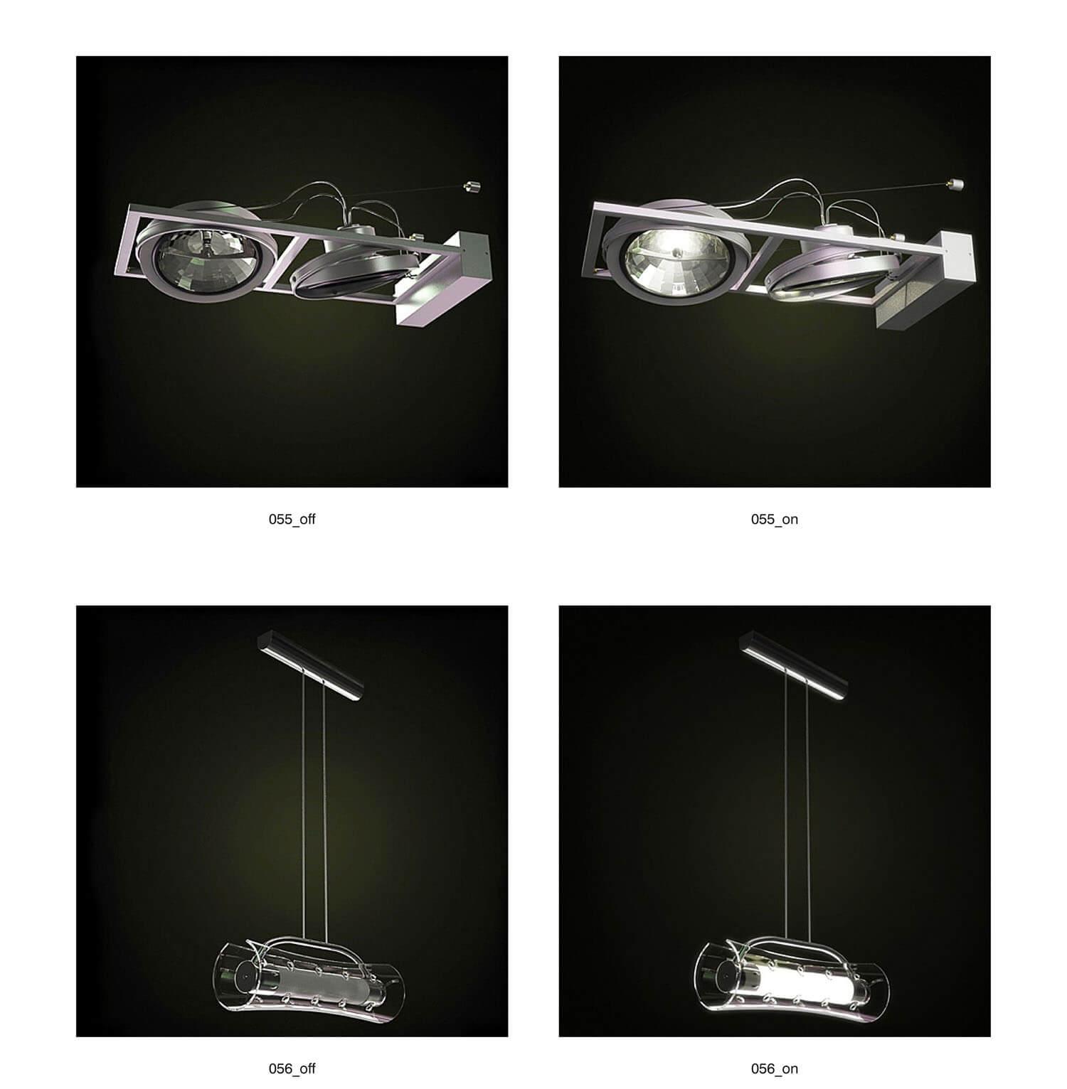 Đèn rọi và đèn thả Inox - pha lê