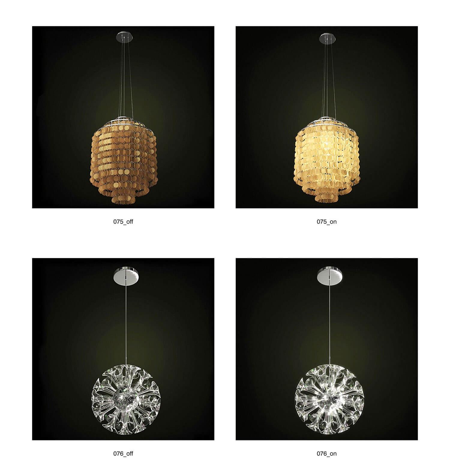 Các mẫu đèn thả có ánh sáng lung linh, phù hợp với không gian sang trọng
