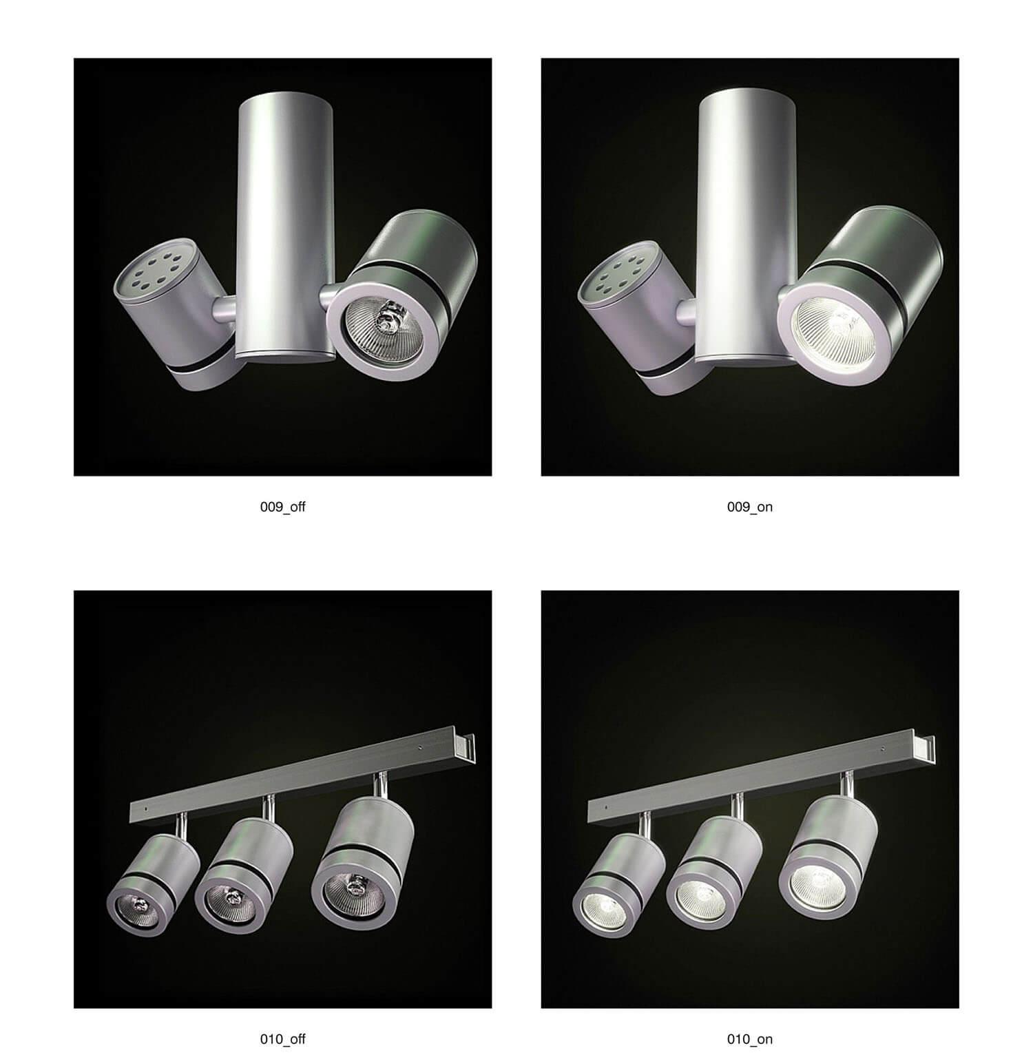 Các loại đèn cho các biệt thự hiện đại, với khối hình, đường nét đơn giản