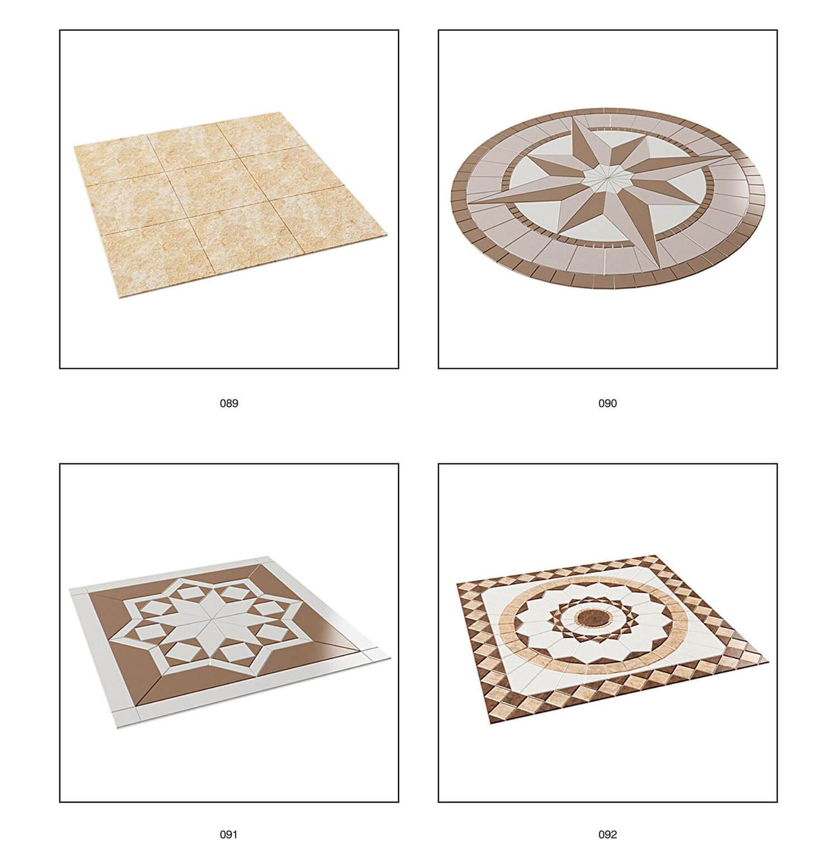 Một số mẫu ghép gạch lát sân trang trí hình tròn