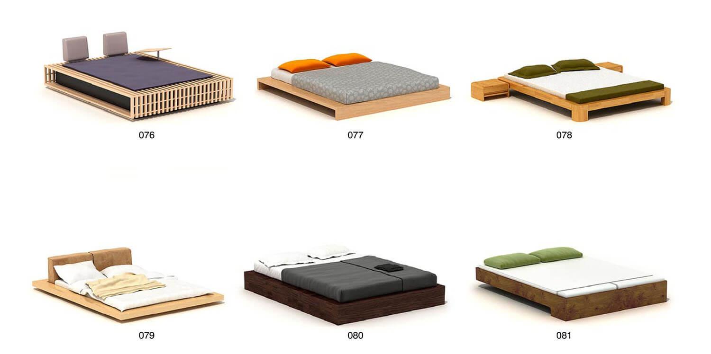 Giường ngủ hiện đại gỗ công nghiệp không có đầu giường