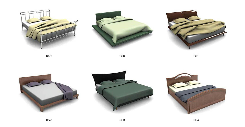 Các mẫu giường đơn giản nhưng không đơn điệu