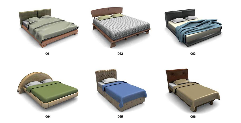 Các loại đầu giường bằng đệm da, với các kiểu dáng khác nhau