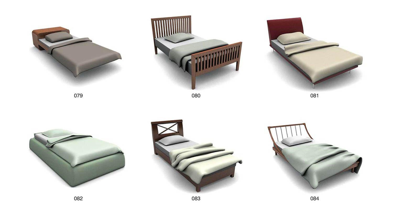 Các loại giường đơn đầu giường nhỏ