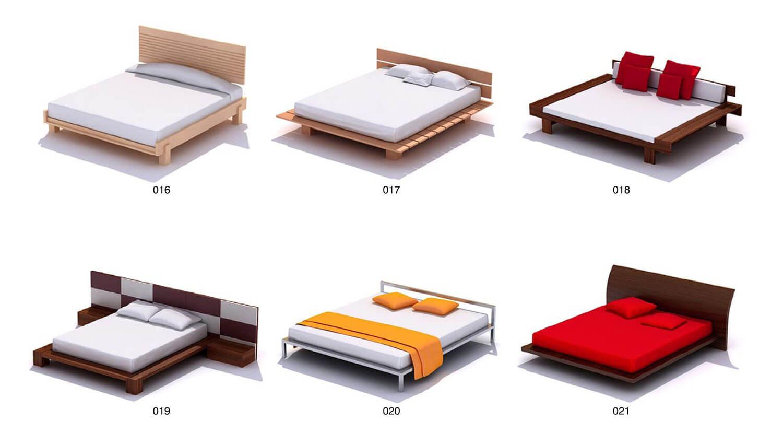 Các kiểu giường hiện đại với đường nét vuông phẳng