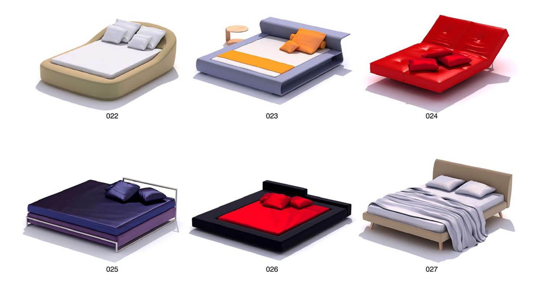 Giường bọc nỉ có màu sắc trẻ trung