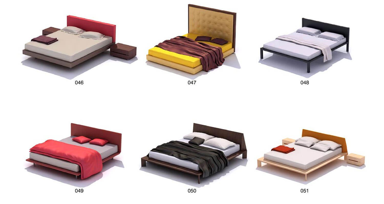 Các kiểu đầu giường khác nhau, từ thấp đến cao, gỗ, nỉ, da