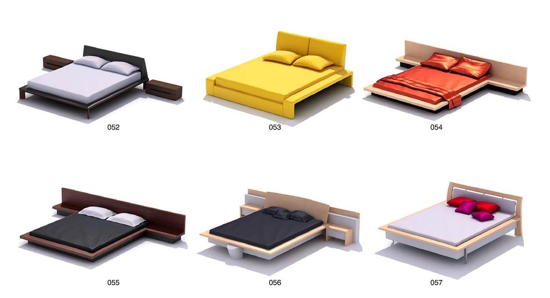 Giường gỗ công nghiệp có các chi tiết chạy liên khỏe khoắn