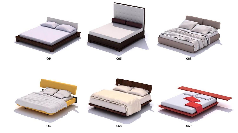 Giường đôi 1m8 bọc nỉ