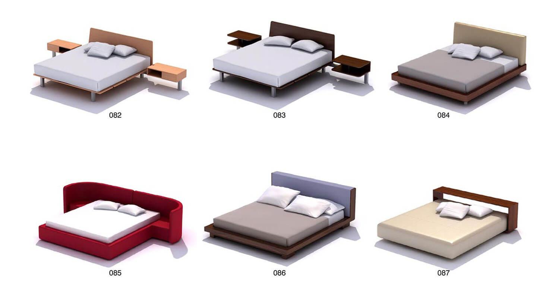 Các mẫu giường bằng gỗ công nghiệp kết hợp chân sắt, inox