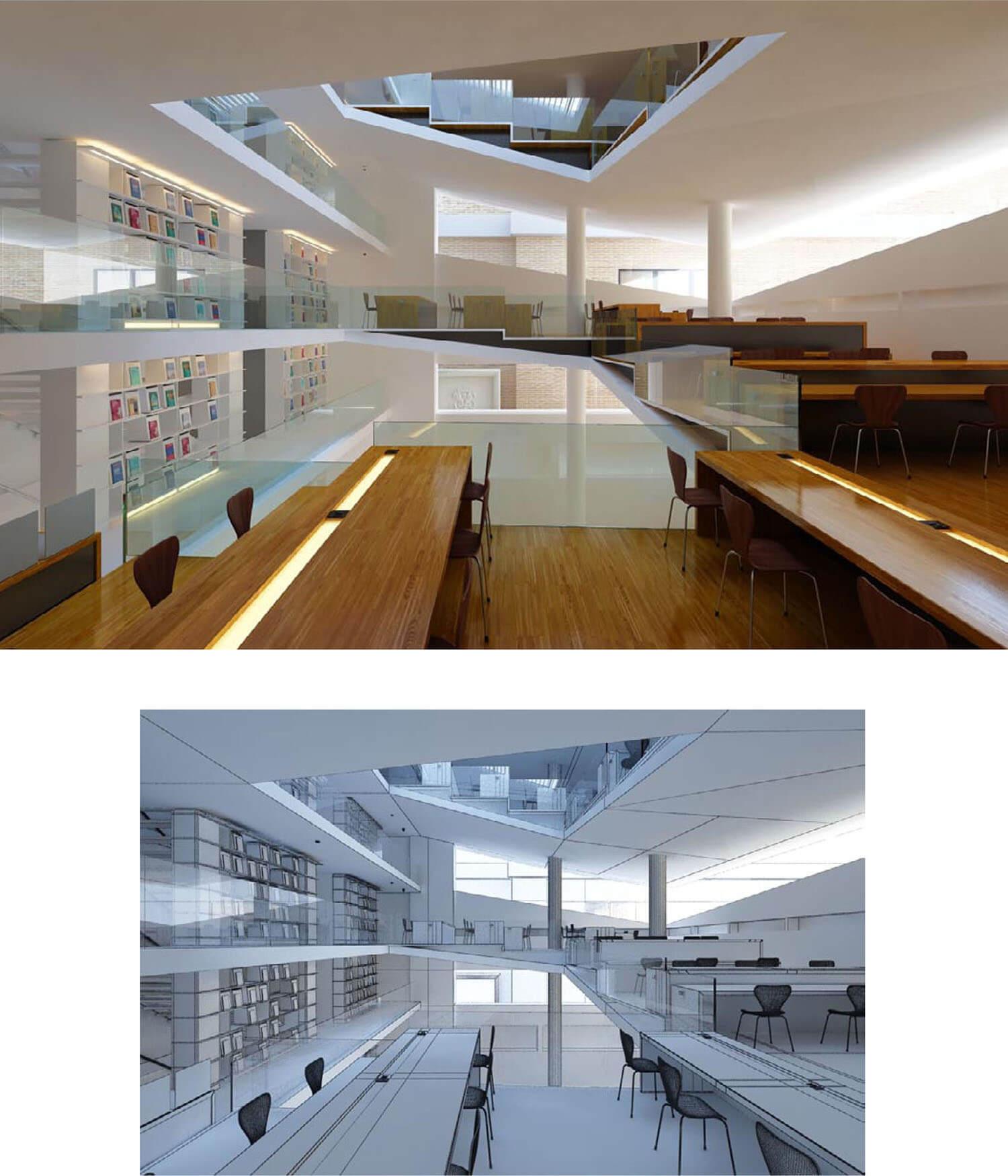 Thiết kế nhà hàng kiểu tầng xoắn ốc đem lại góc nhìn và giếng trời