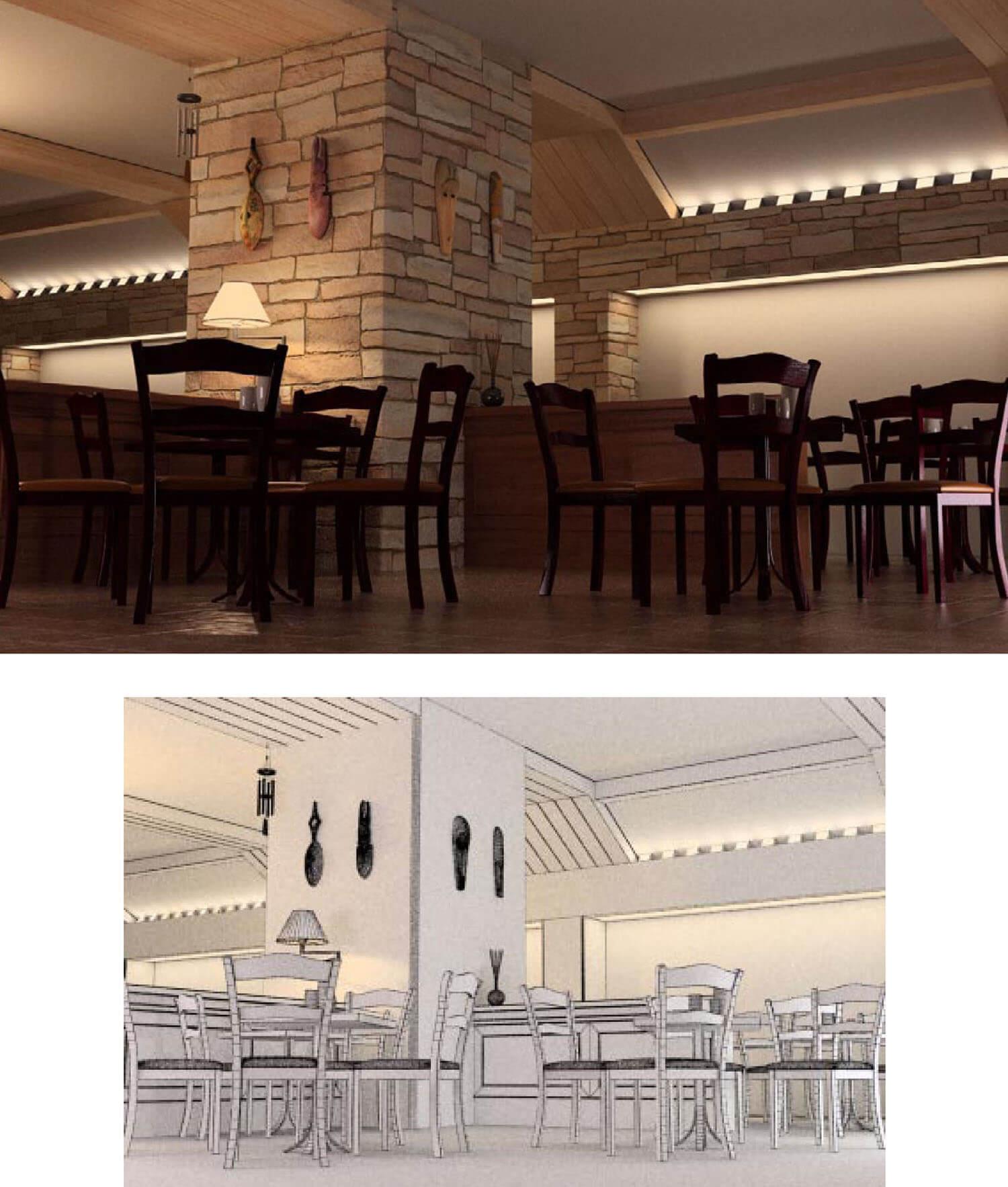 Nội thất quán cafe kiểu quán bar hầm rượu cổ