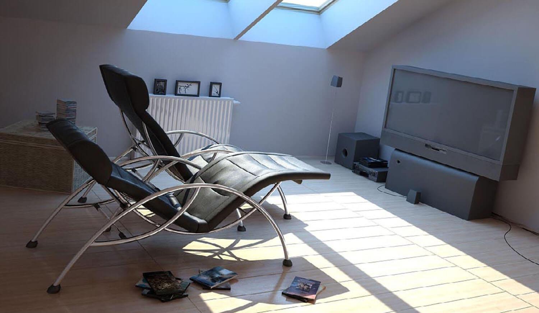 Không gian giải trí được tận dụng gác xép hay tầng áp mái