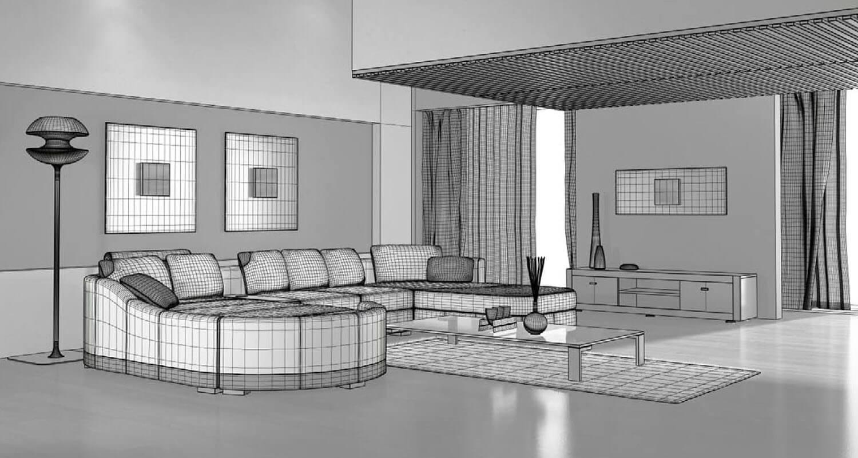 bản vẽ 3d Không gian nội thất phòng khách dường như đẹp hơn