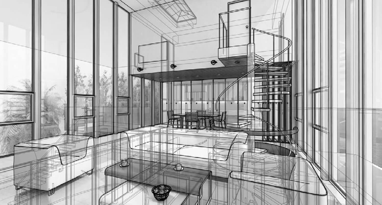 Thiết kế phối cảnh 3D phòng khách này