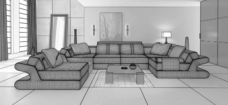 bản vẽ 3d Ghế salon đẹp luôn là điểm nhấn thiết kế phòng khách