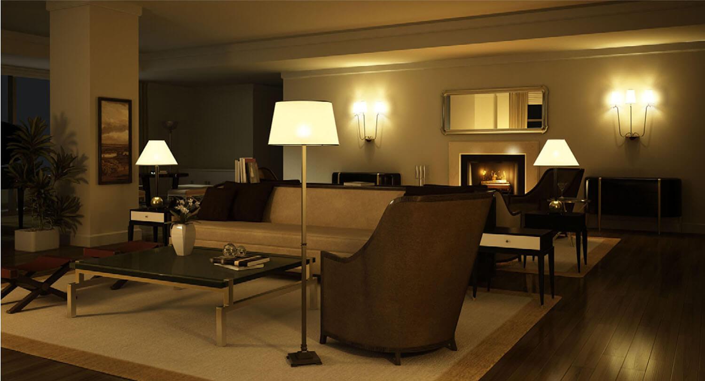 Không gian nội thất phòng khách thật êm dịu với màu vàng nhẹ