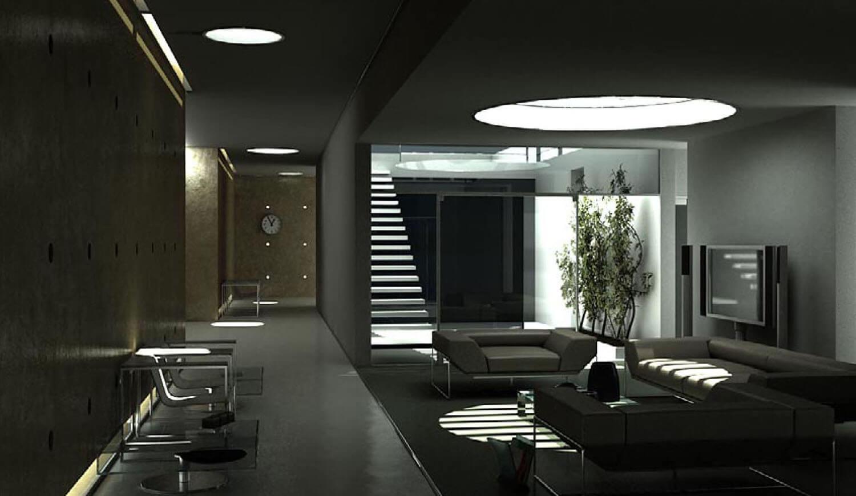 Mẫu nội thất phòng khách với ánh sáng được đưa vào khéo léo