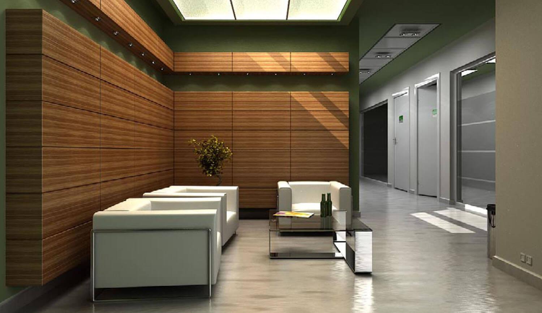 Mẫu ốp tường phòng khách văn phòng hiện đại