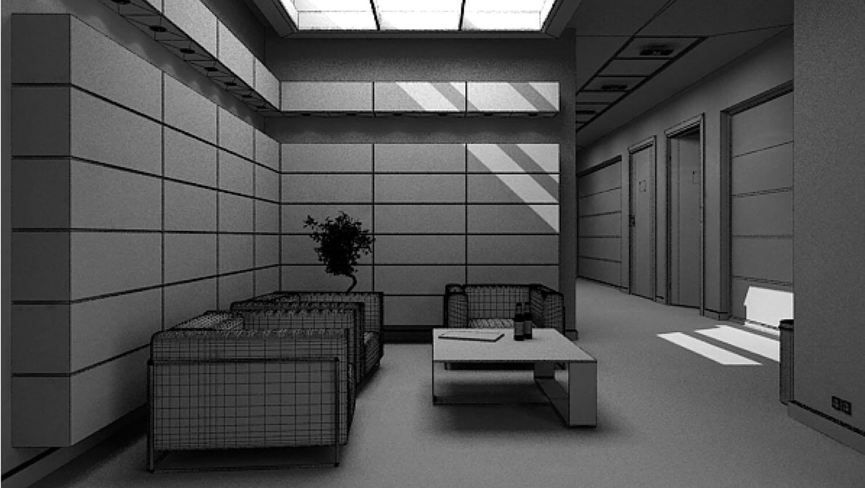 Bản vẽ nội thất 3D Mẫu ốp tường phòng khách văn phòng hiện đại