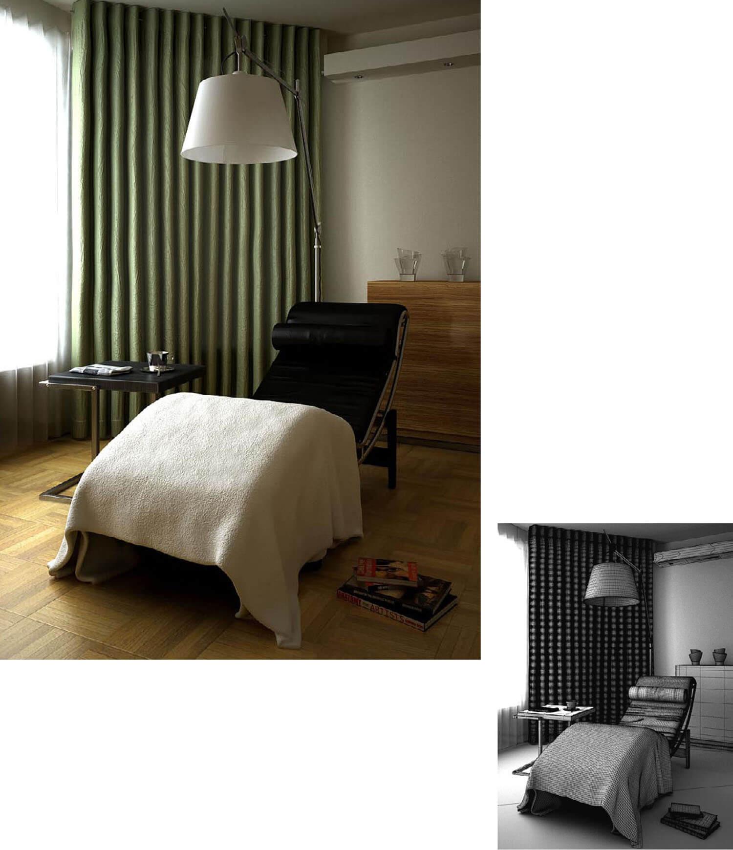 Ghế tựa đa năng tiện dụng trong phòng ngủ