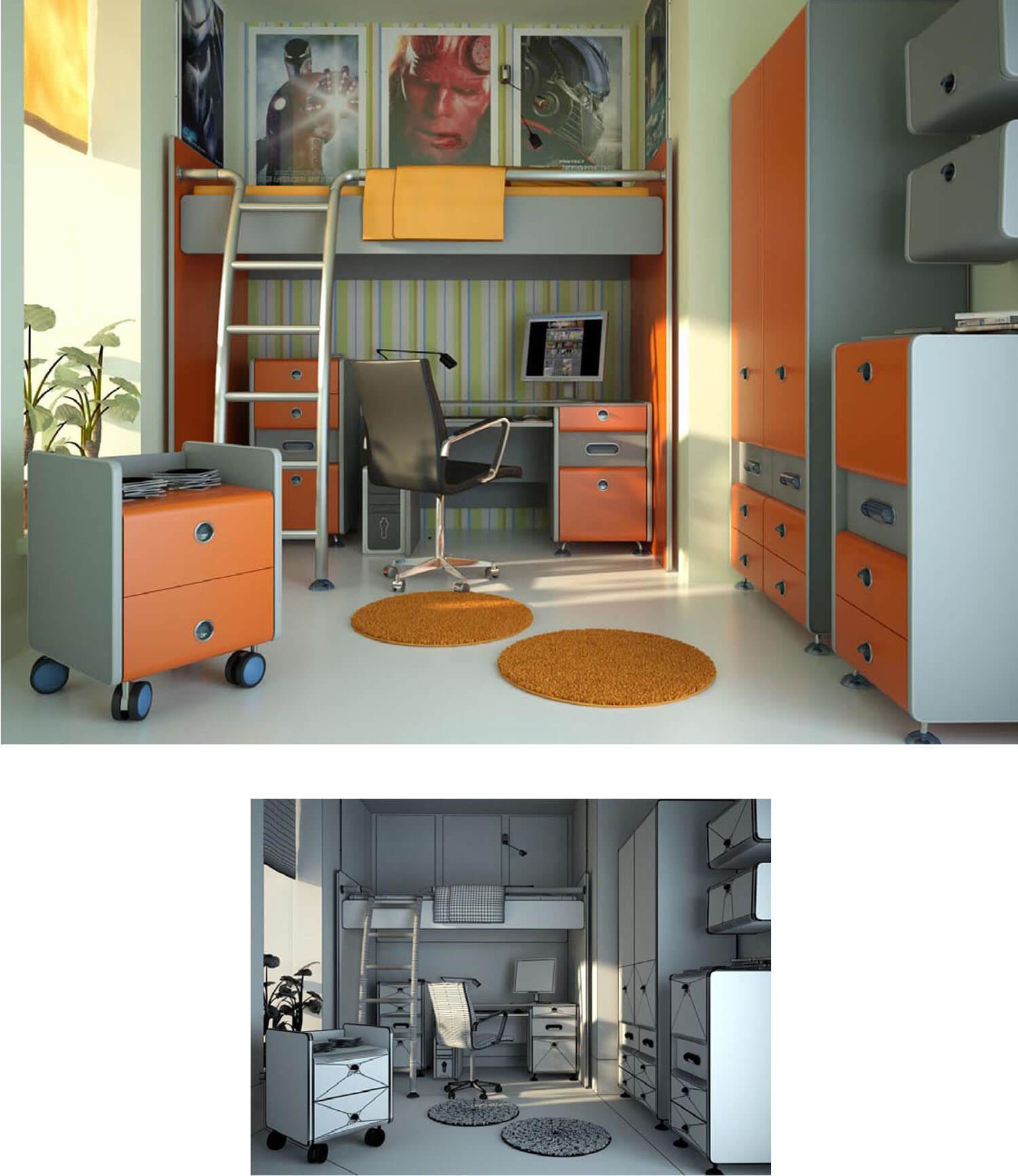 Không gian phòng ngủ trẻ em được thiết kế khoa học
