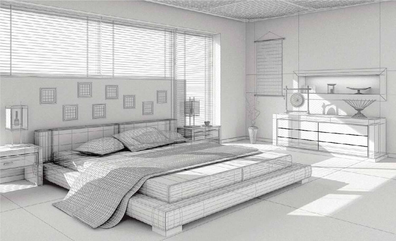 Thiết kế 3D phòng ngủ sử dụng nhiều cửa kính